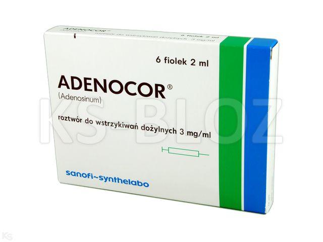 Adenocor interakcje ulotka roztwór do wstrzykiwań 3 mg/ml 6 fiol. po 2 ml