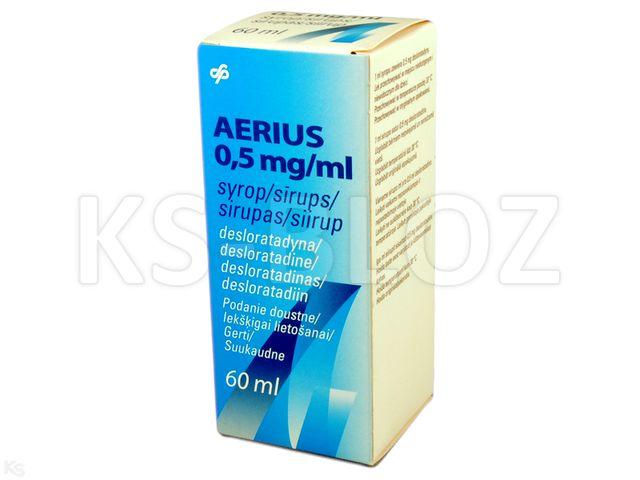 Aerius interakcje ulotka syrop 0,5 mg/ml 60 ml