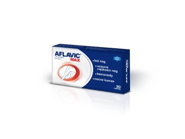 Aflavic Max interakcje ulotka tabletki 1 g 30 tabl. | blist.PVC/PVDC/Alu