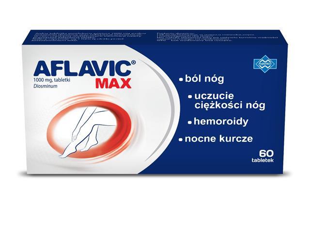 Aflavic Max interakcje ulotka tabletki 1 g 60 tabl.
