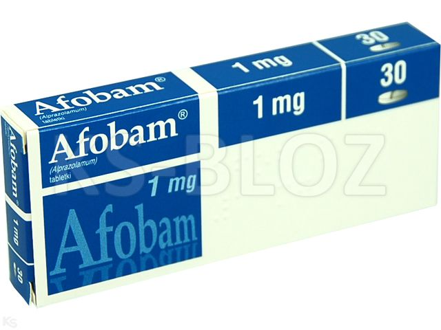 Afobam interakcje ulotka tabletki 1 mg 30 tabl.