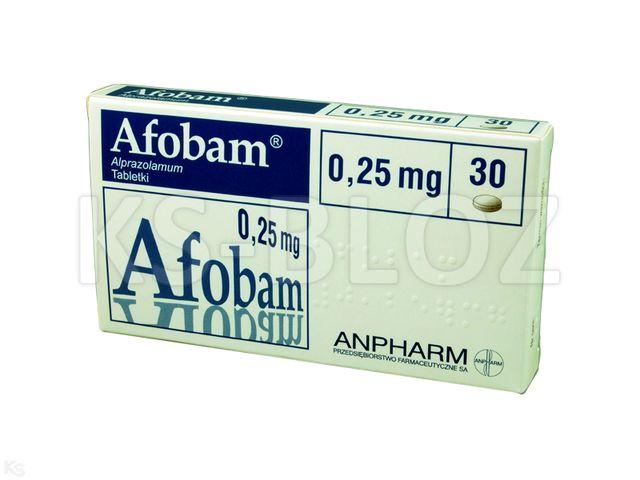 Afobam interakcje ulotka tabletki 0,25 mg 30 tabl.