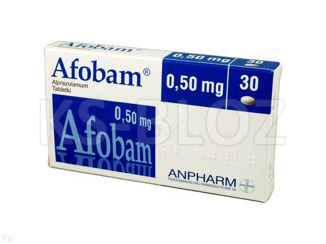 Afobam interakcje ulotka tabletki 0,5 mg 30 tabl.