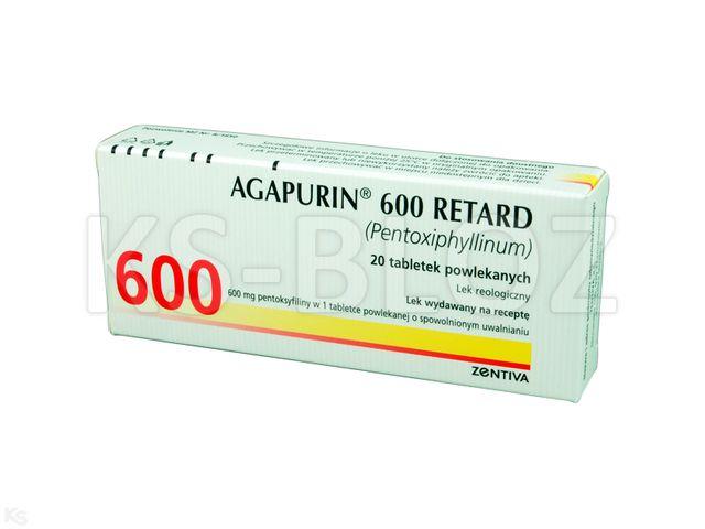 Agapurin 600 Retard interakcje ulotka tabletki o przedłużonym uwalnianiu 0,6 g 20 tabl.