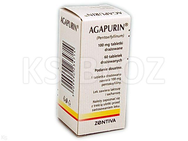 Agapurin interakcje ulotka tabletki drażowane 0,1 g 60 tabl.