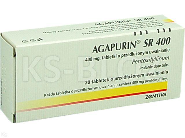 Agapurin SR 400 interakcje ulotka tabletki o przedłużonym uwalnianiu 0,4 g 20 tabl.