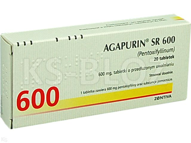 Agapurin SR 600 interakcje ulotka tabletki o przedłużonym uwalnianiu 0,6 g 20 tabl.