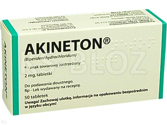 Akineton interakcje ulotka tabletki 2 mg 50 tabl.