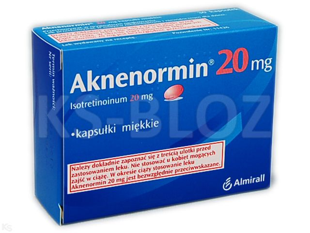 Aknenormin 20 mg interakcje ulotka kapsułki miękkie 0,02 g 30 kaps.