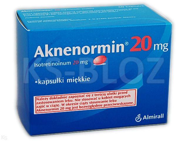 Aknenormin 20 mg interakcje ulotka kapsułki miękkie 0,02 g 60 kaps. | 6 blist.po 10 szt.