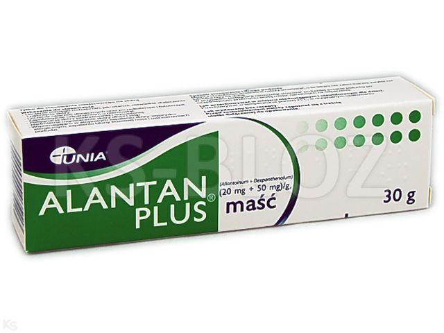 Alantan -Plus interakcje ulotka maść (0,02g+0,05g)/g 30 g