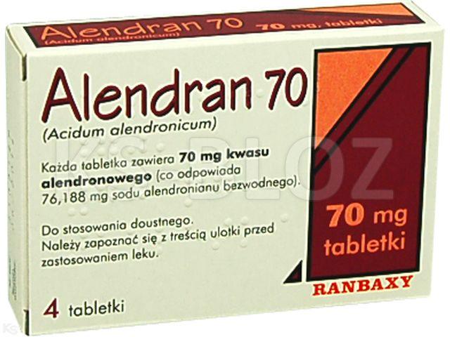 Alendran 70 interakcje ulotka tabletki 0,07 g 4 tabl.