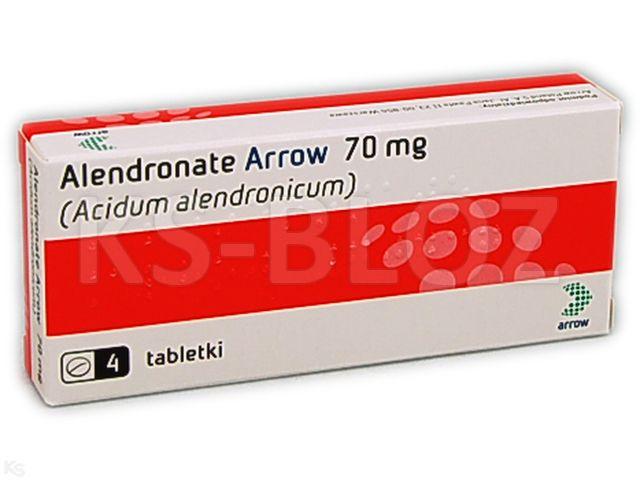 Alendronate Arrow interakcje ulotka tabletki 0,07 g 4 tabl.