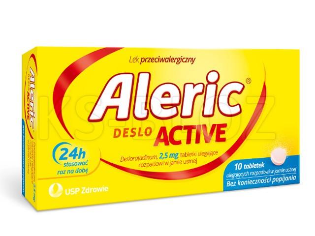 Aleric Deslo Active interakcje ulotka tabletki ulegające rozpadowi w jamie ustnej 2,5 mg 10 tabl.