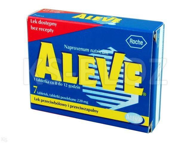 Aleve interakcje ulotka tabletki powlekane 0,22 g 7 tabl.