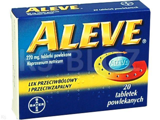 Aleve interakcje ulotka tabletki powlekane 0,22 g 20 tabl.