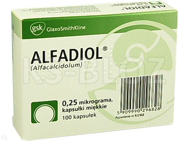 Alfadiol interakcje ulotka kapsułki miękkie 0,25 mcg 100 kaps.