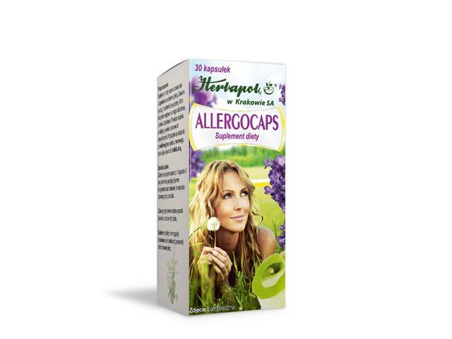 Allergocaps interakcje ulotka   30 kaps.