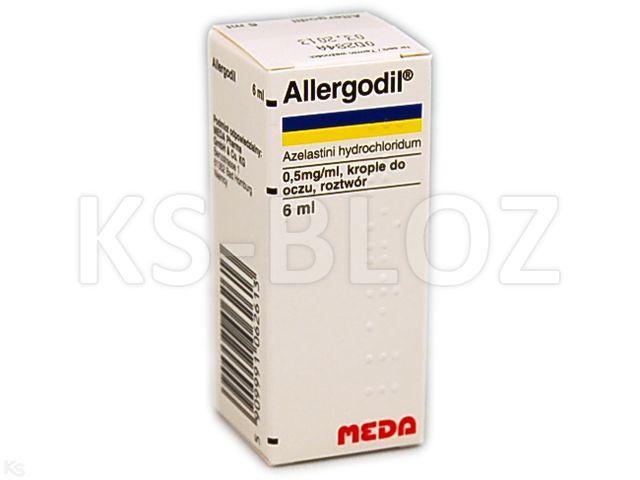 Allergodil interakcje ulotka krople do oczu, roztwór 0,5 mg/ml 6 ml
