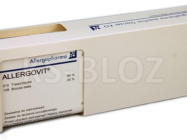 Allergovit (stęż.AiB) począt. brz35%,olcha30%,lesz35% interakcje ulotka zawiesina do wstrzykiwań podskórnych   2 fiol. po 3 ml