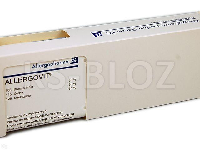 Allergovit (stęż.B)podtrz. brz35%,olcha30%,lesz35% interakcje ulotka zawiesina do wstrzykiwań podskórnych   1 fiol. po 3 ml