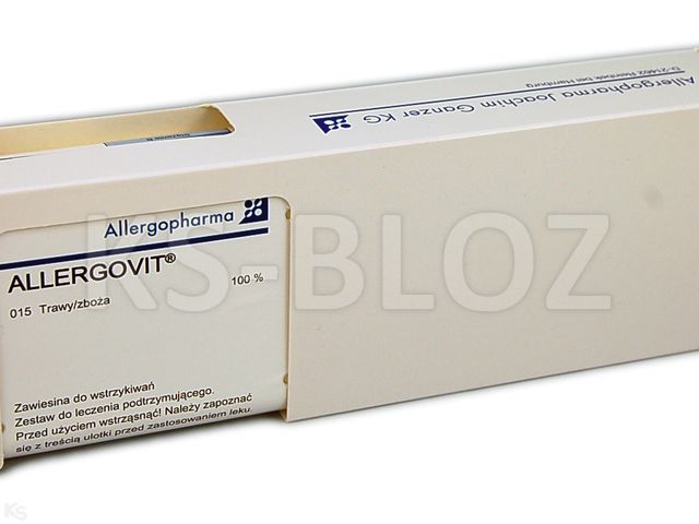 Allergovit (stęż.B)podtrz. trawy/zboża100% interakcje ulotka zawiesina do wstrzykiwań podskórnych   1 fiol. po 3 ml