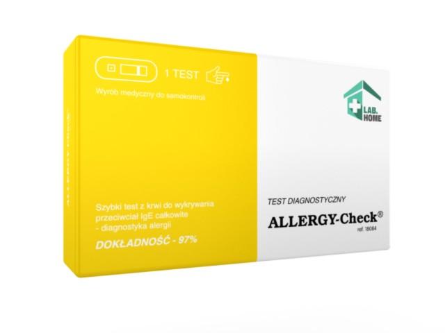 ALLERGY-Check Test alergiczny IgE interakcje ulotka   1 szt.