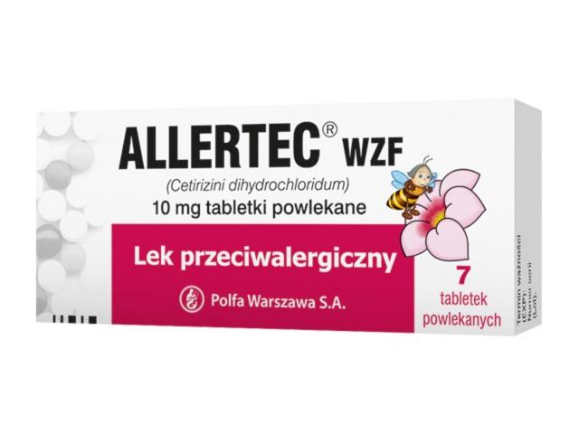 Allertec WZF interakcje ulotka tabletki powlekane 0,01 g 7 tabl.