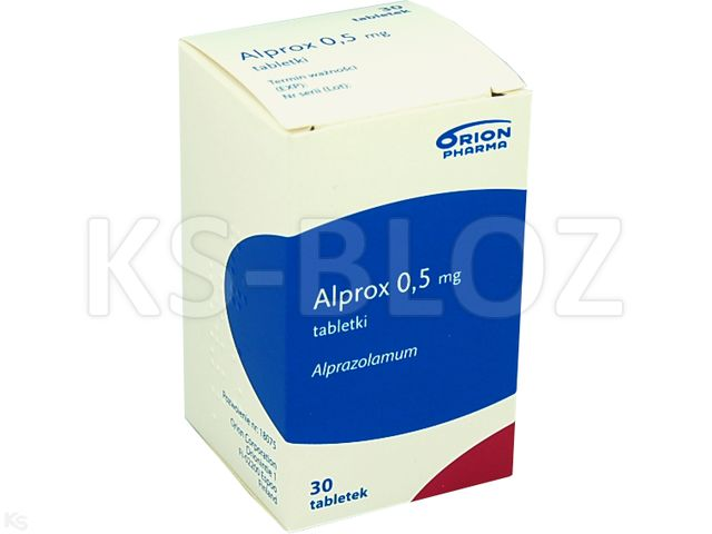 Alprox interakcje ulotka tabletki 0,5 mg 30 tabl.