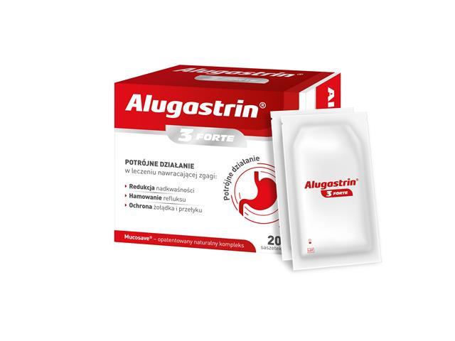Alugastrin 3 Forte (saszetki) interakcje ulotka   20 sasz.