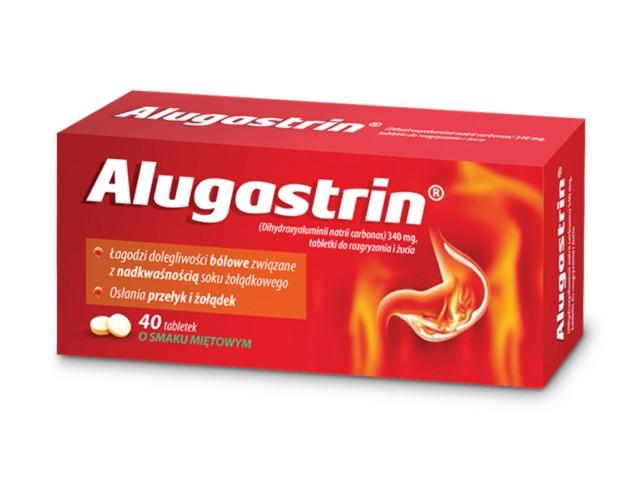 Alugastrin interakcje ulotka tabletki do rozgryzania i żucia 0,34 g 40 tabl.