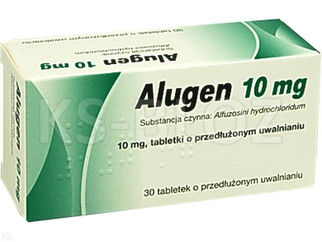 Alugen 10 interakcje ulotka tabletki o przedłużonym uwalnianiu 0,01 g 30 tabl.