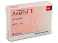 Amaryl 1 interakcje ulotka tabletki 1 mg 30 tabl.
