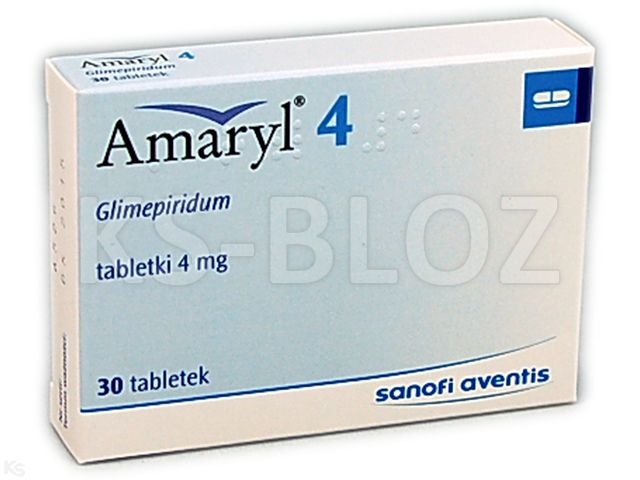 Amaryl 4 interakcje ulotka tabletki 4 mg 30 tabl.