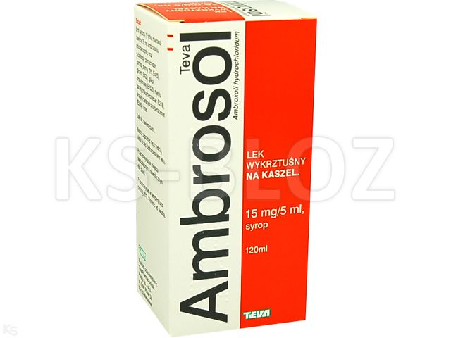 Ambrosol TEVA interakcje ulotka syrop 0,015 g/5ml 120 ml