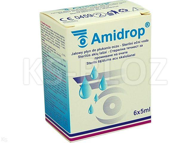 Amidrop interakcje ulotka płyn do przemywania oczu  6 szt. po 5 ml