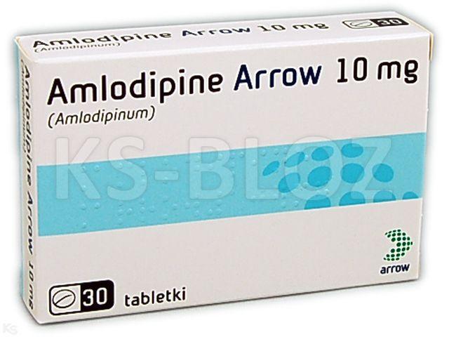 Amlodipine Arrow 10 interakcje ulotka tabletki 0,01 g 30 tabl. | 3 blist.po 10 szt.