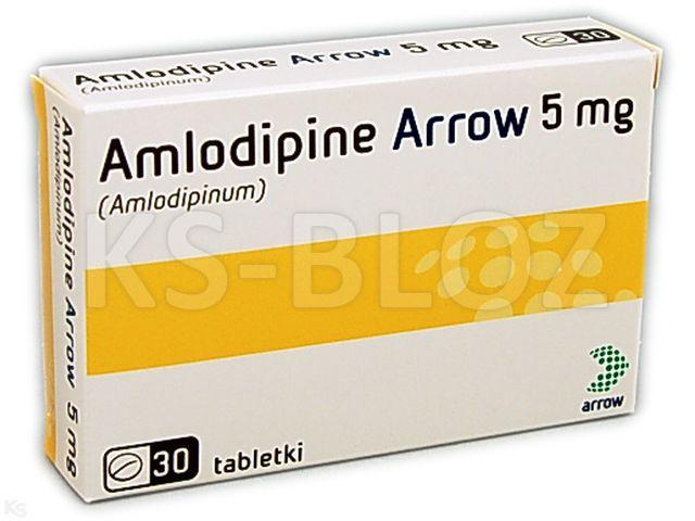 Amlodipine Arrow 5 interakcje ulotka tabletki 5 mg 30 tabl.