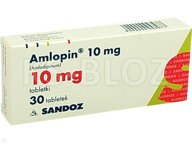 Amlopin 10 mg interakcje ulotka tabletki 0,01 g 30 tabl.