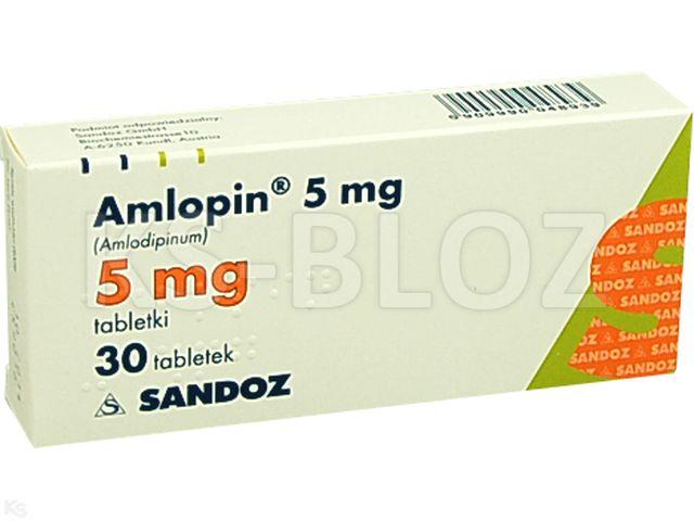 Amlopin 5 mg interakcje ulotka tabletki 5 mg 30 tabl.