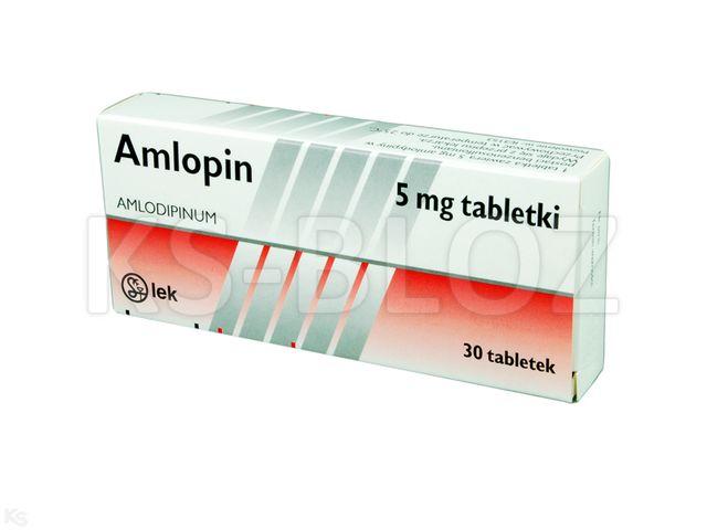 Amlopin interakcje ulotka tabletki 5 mg 30 tabl.
