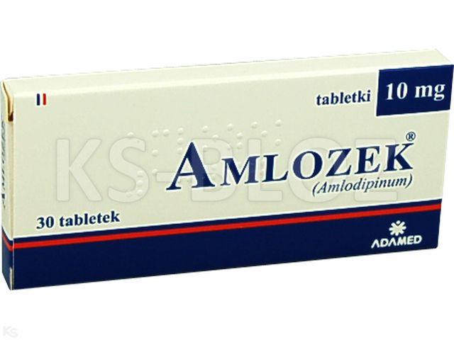 Amlozek interakcje ulotka tabletki 0,01 g 30 tabl.
