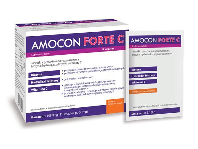 Amocon Forte C interakcje ulotka saszetka  21 sasz.