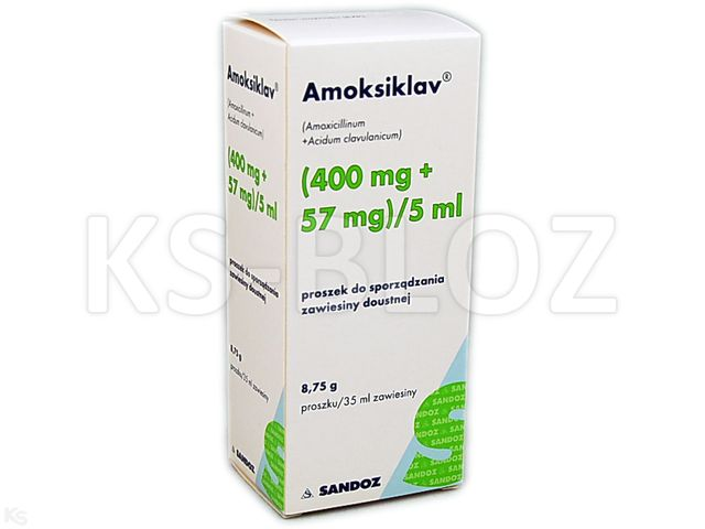 Amoksiklav interakcje ulotka proszek do sporządzenia zawiesiny doustnej (0,4g+0,057g)/5ml 35 ml