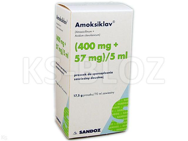 Amoksiklav interakcje ulotka proszek do sporządzenia zawiesiny doustnej (0,4g+0,057g)/5ml 70 ml