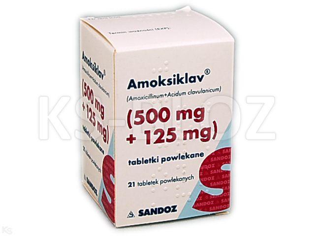 Amoksiklav interakcje ulotka tabletki powlekane 0,5g+0,125g 21 tabl.