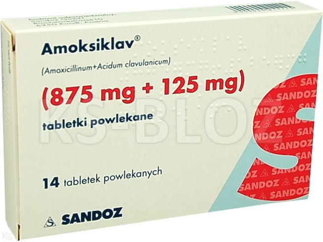 Amoksiklav interakcje ulotka tabletki powlekane 0,875g+0,125g 14 tabl.
