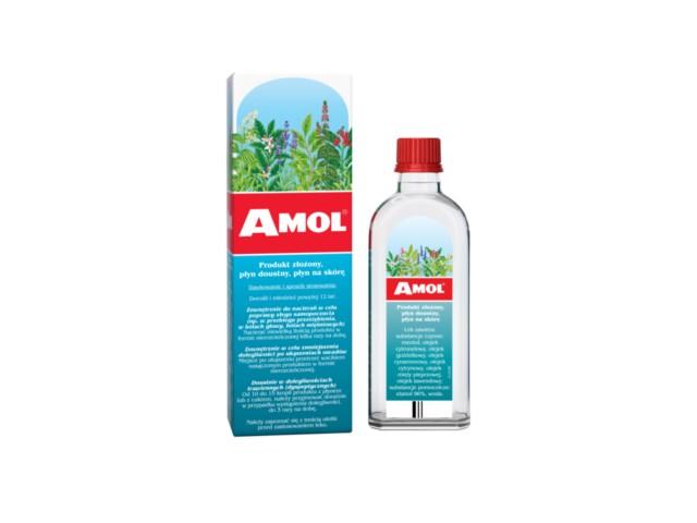 Amol interakcje ulotka płyn doustny, płyn na skórę  100 ml