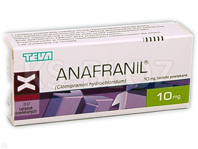 Anafranil interakcje ulotka tabletki powlekane 0,01 g 30 tabl.
