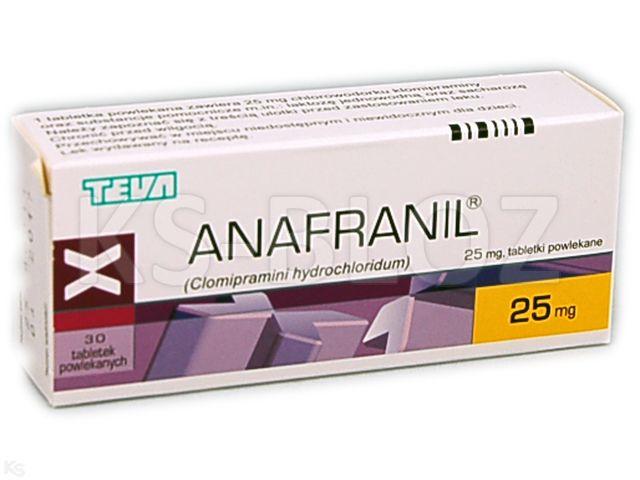 Anafranil interakcje ulotka tabletki powlekane 0,025 g 30 tabl.